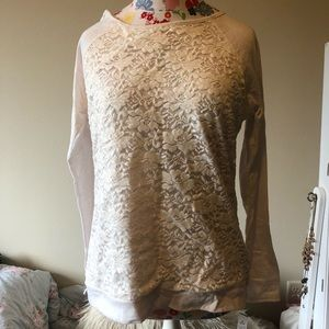 NWT Faded Glory Lace Pullover